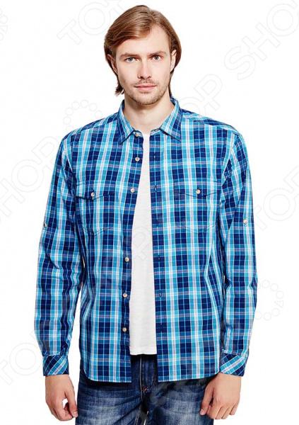 Рубашка Finn Flare B17-22019. Цвет: темно-синий