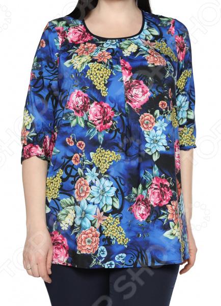 Блуза Лауме-Лайн «Сказочный сад». Цвет: васильковый