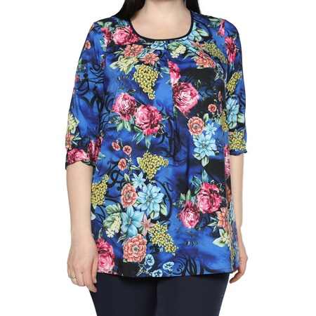 Купить Блуза Лауме-Лайн «Сказочный сад». Цвет: васильковый