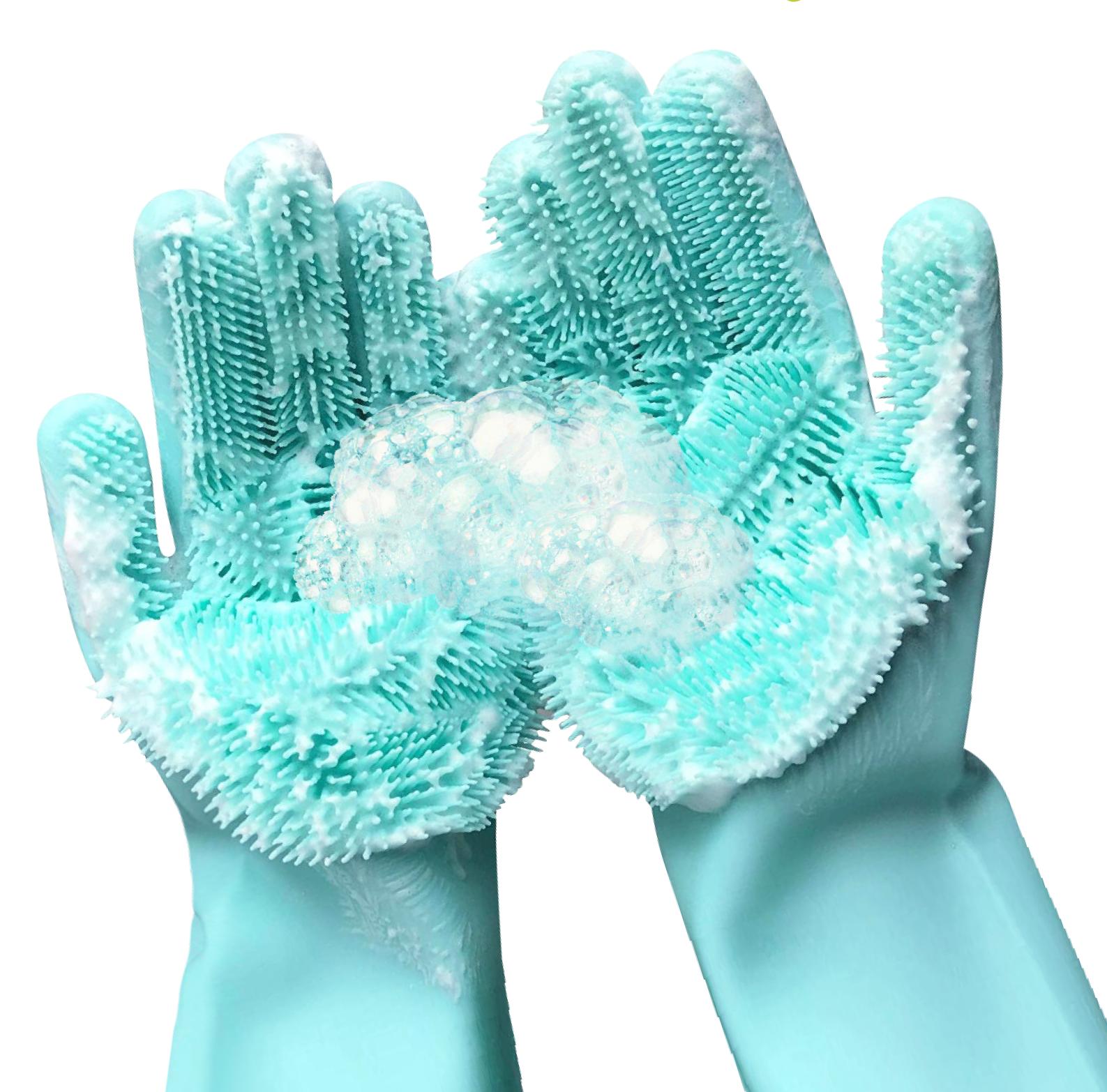 Мультифункциональные силиконовые перчатки