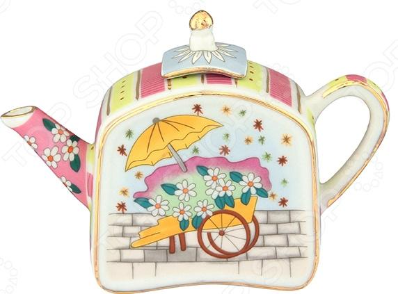 Чайник сувенирный Elan Gallery «Цветы и зонтик» Elan Gallery - артикул: 967588