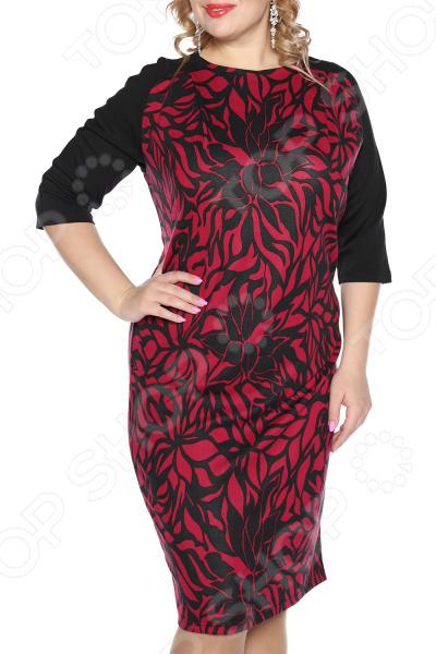 Платье VEAS «Нежный жасмин». Цвет: бордовый платье veas модный показ цвет фиолетовый