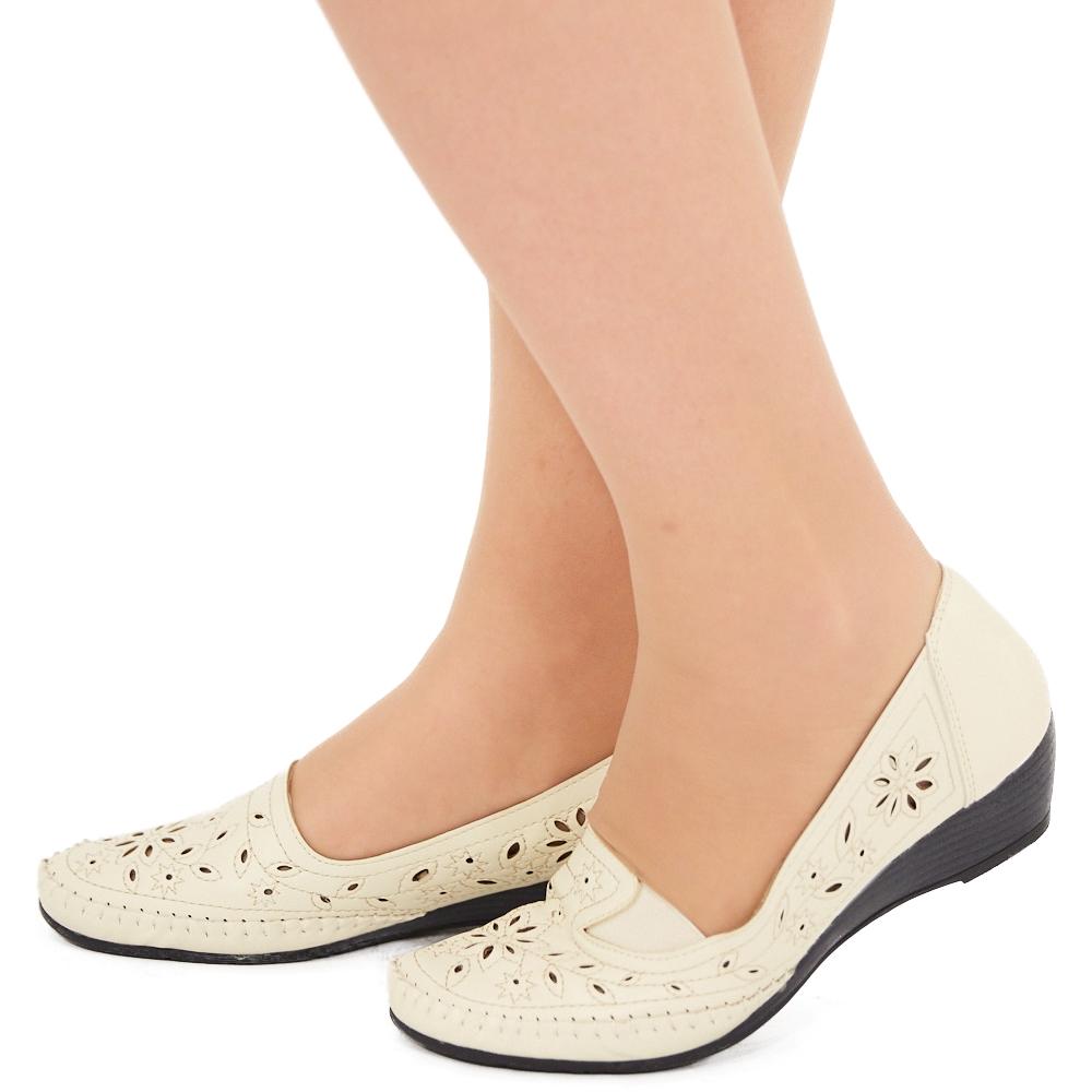 Туфли EGO «Бланка». Цвет: бежевый