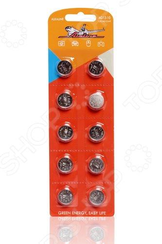 Набор батареек щелочных Airline AG12/LR43 набор батареек щелочных airline ag12 lr43