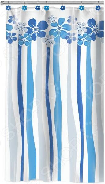 Штора для ванной Valiant «Водопад цветов» декоративные перегородки для зонирования комнаты калуга
