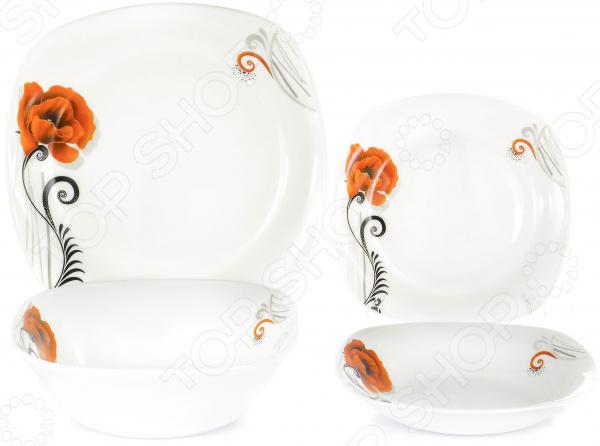 Набор столовой посуды OlAff «Мак». Количество предметов: 19 набор столовой посуды olaff скарлет 19 предметов