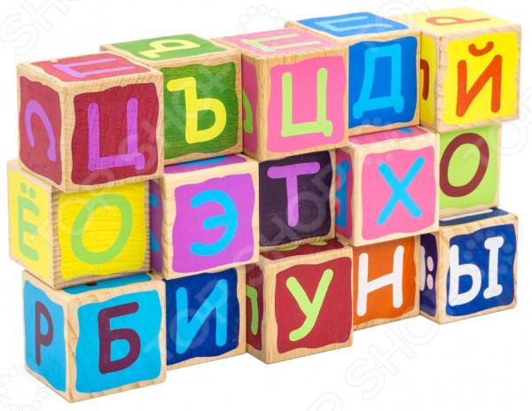 Кубики развивающие Alatoys «Азбука» КБА1502 развивающие деревянные игрушки кубики животные