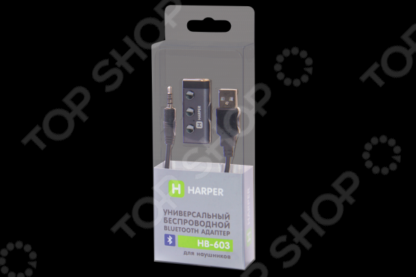 Bluetooth-адаптер для наушников Harper HB-603 наушники с оголовьем harper hb 401 green с микроф зел