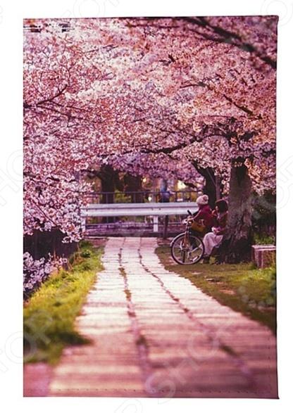 Обложка для паспорта кожаная Mitya Veselkov «Цветущая аллея» визитница женская mitya veselkov цветущая аллея цвет розовый vizit 305