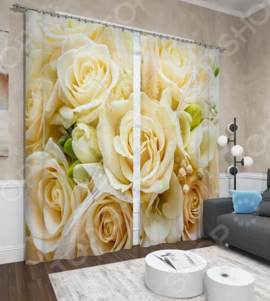 Фотошторы Сирень «Тепло роз»