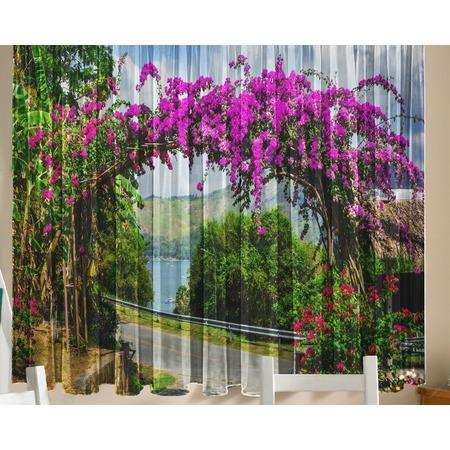 Купить Комплект тюля ТамиТекс «Цветочная арка»