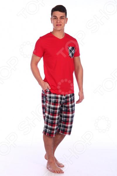 Комплект домашний мужской Селтекс КК319. Цвет: красный