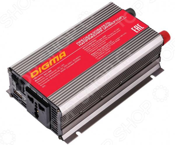 Инвертор автомобильный Digma DCI-300 автомобильный инвертор напряжения digma dci 800 800вт