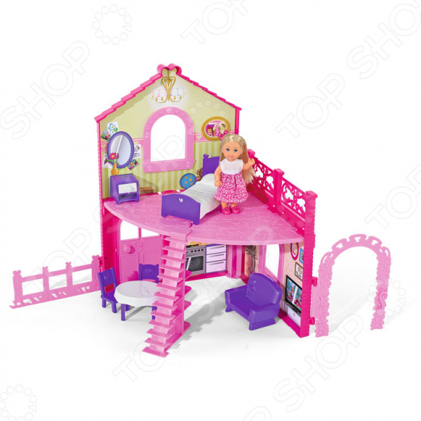 simba кукла еви с подружкой Кукла с аксессуарами Simba «Еви в двухэтажном доме»