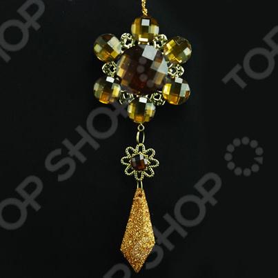 Новогоднее украшение Crystal Deco «Цветок объемный с подвеской»