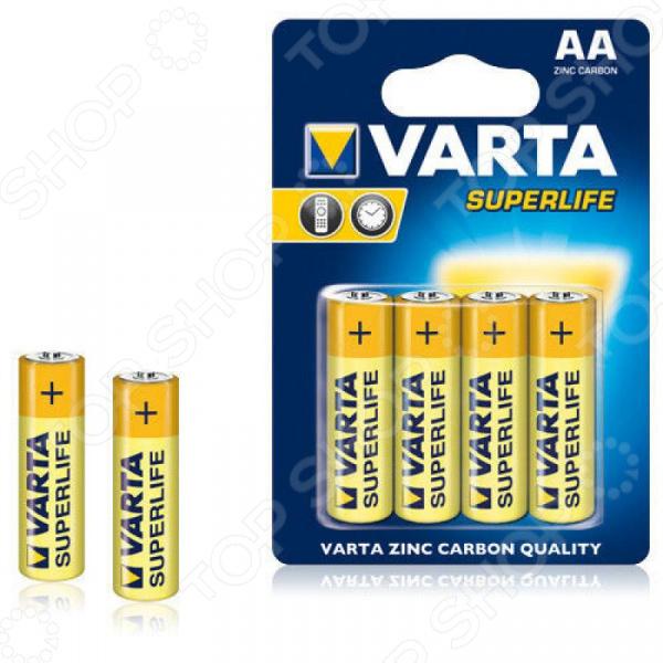 Элемент питания VARTA Superlife AA пл 4 батарейки varta energy lr6 aa 4 шт 4106213414