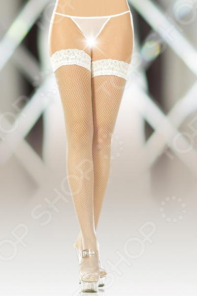 Чулки-сетка SoftLine Collection 5517. Цвет: белый эротические чулки ddl 8407