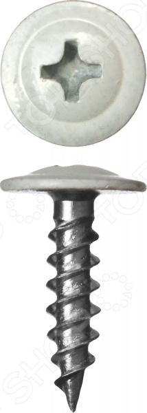 Набор саморезов Зубр ПШМ для листового металла. Цвет: белый