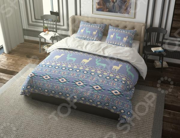Комплект постельного белья Стильный дом «Северные мотивы» северные срубы и дома