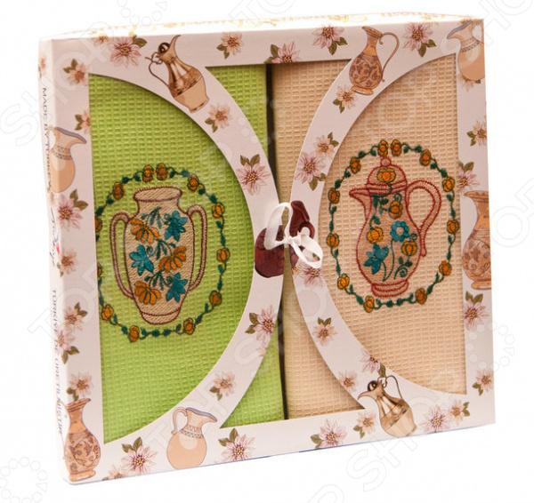 Комплект из 2-х кухонных полотенец Dinosti «Кувшины»