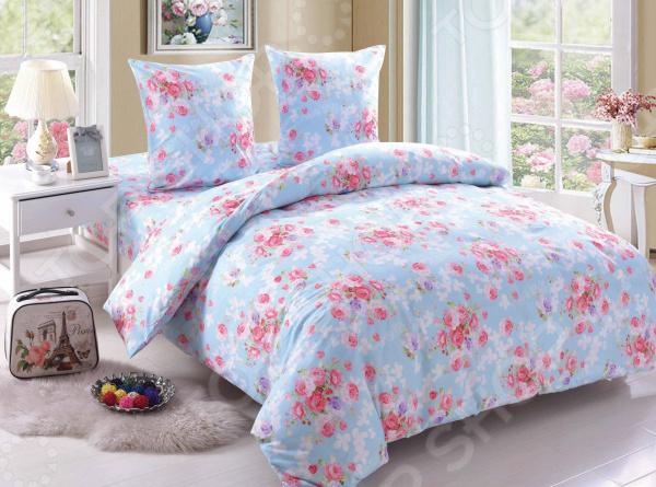 Комплект постельного белья Amore Mio BZ Rose. Цвет: голубой комплекты белья linse комплект белья