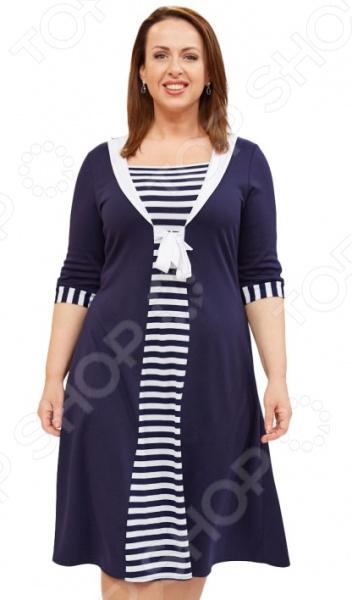Платье Матекс «Моя Венеция». Цвет: синий