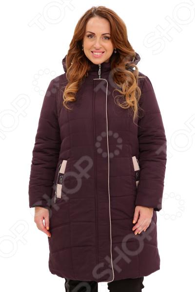 Куртка «Солнечный морозный день». Цвет: темно-фиолетовый