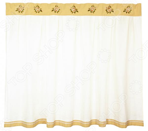 Штора кухонная «Корейская роза» 850-812-12 полотенце для кухни арти м корейская роза