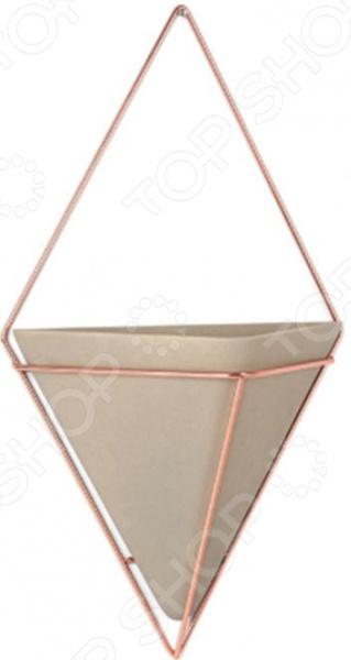 Набор кашпо декоративных Umbra Trigg. Материал корпуса: бетон, медь