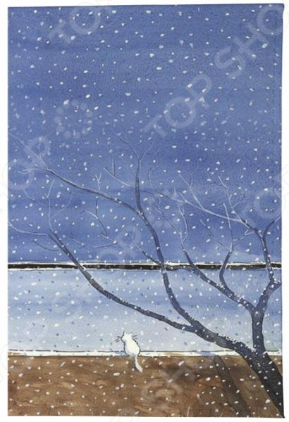 Обложка для паспорта кожаная Mitya Veselkov «Котик под деревом» обложки mitya veselkov обложка для автодокументов котик под деревом