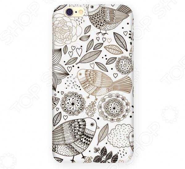 Чехол для iPhone 6 Mitya Veselkov «Цветы и Птички»