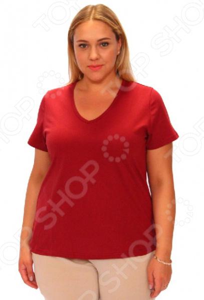 Комплект футболок Матекс «Джоли». Цвет: васильковый, бордовый, красный