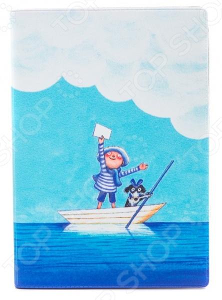 Обложка для автодокументов кожаная Mitya Veselkov «Мальчик и собака в лодке» обложка для автодокументов кожаная mitya veselkov гагарин