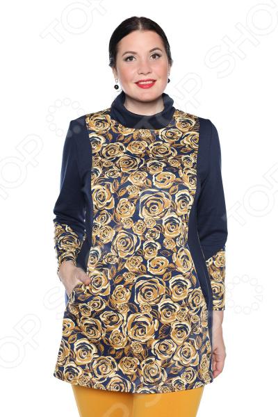Блуза Pretty Woman «Бьянка». Цвет: синий блуза pretty woman волшебный взгляд цвет фиолетовый