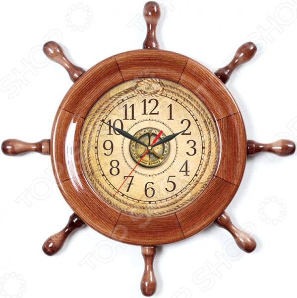 Часы настенные Вега Д 7 КД 4 «Штурвал. Компас»