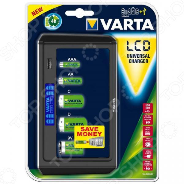 Устройство зарядное для батареек VARTA LCD Universal Charger цена и фото