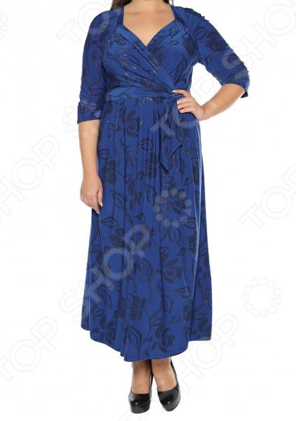 Платье VEAS «Модный показ». Цвет: синий