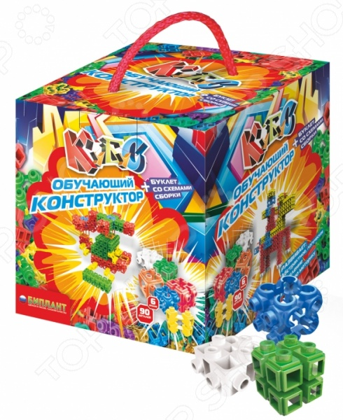 Конструктор игровой Биплант «Кубус большой №1» конструктор биплант 11029 кубус малая упаковка 40 элементов новый