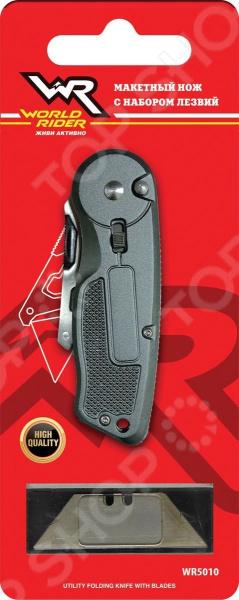 Макетный нож World Rider WR 5010 набор туриста 3в1 ложка вилка нож world rider wr 5004