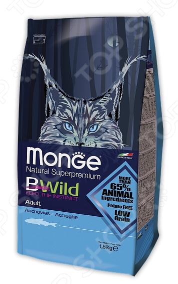 Корм сухой для пожилых кошек Monge Natural Superpremium Bwild Anchovies