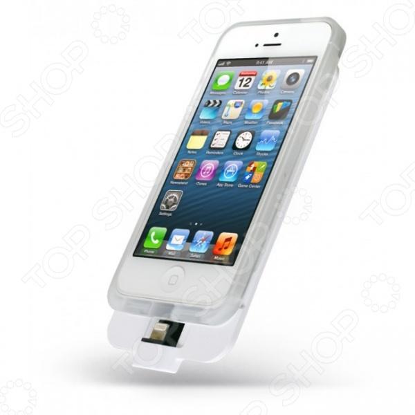 Аккумулятор внешний для iPhone 5 5S Elari Appolo 2 устройство, которое позволяет удобно заряжать гаджет, если вы находитесь вне дома и не имеете возможности подключиться к сети питания. В процессе зарядки устройство защищено прочным бампером, в котором также предусмотрены отверстия для микрофона и динамика. По окончанию, чтобы отсоединить внешний аккумулятор, необходимо отжать его в верхней части от корпуса, затем сдвинуть вниз. На обратной стороне размещена кнопка включения выключения зарядки, а также светодиодный индикатор, показывающий уровень заряда аккумулятора. В процессе зарядки вы можете без труда пользоваться устройством: делать звонки или заходить в интернет, снимать фото и видео на камеру, слушать музыку. Все кнопки управления находятся в свободном доступе и позволяют управлять iPhone без ограничений. Micro USB порт позволяет заряжать гаджет и сам аккумулятор с помощью любого micro-USB кабеля. Напряжение на входе выходе: 5В, ток на входе выходе: 1А, время полной зарядки: 2-3 часа. Количество рабочих циклов около 500. Рабочий диапазон температур: 0-45 градусов для зарядки , 10-60 градусов для разрядки .