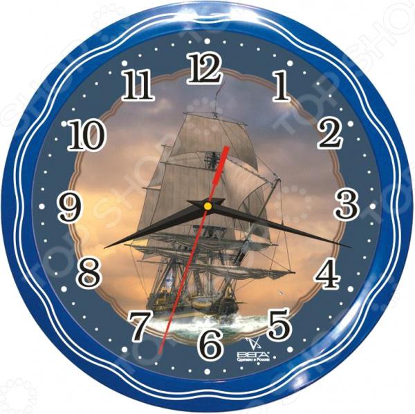 Часы настенные Вега П 1-1074/7-13 «Фрегат»