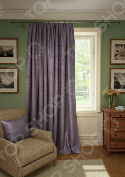 Штора Kauffort Plain Lux. Цвет: светло-фиолетовый шторы интерьерные kauffort штора provence k на тесьме 136х175