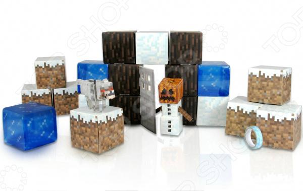 Конструктор бумажный Minecraft «Снежный биом» minecraft игровой конструктор из бумаги снежный биом 48 деталей