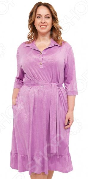 Платье Laura Amatti «Бархатная леди». Цвет: сиреневый