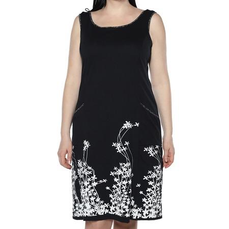 Купить Платье Алтекс «Цветущий сад». Цвет: черный