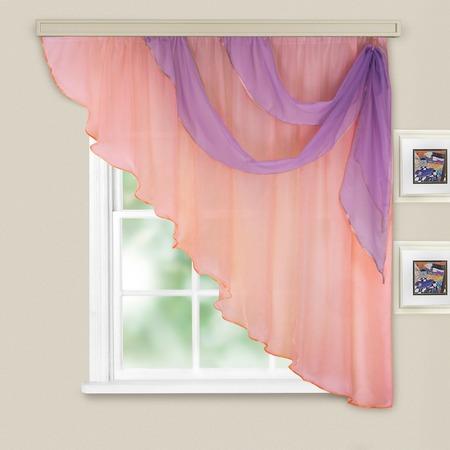 Купить Комплект легких штор правосторонний WITERRA «Азалия». Цвет: бледно-розовый