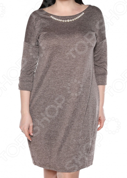 Платье Jenks «Жемчужная романтика». Цвет: какао платья jenks платье