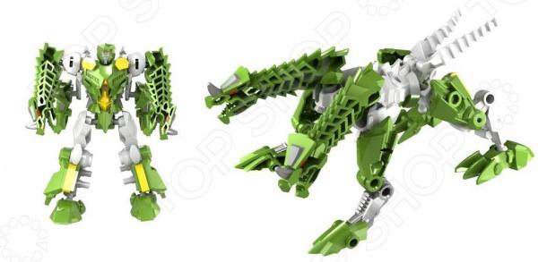 Игрушка-трансформер Город игр «Робот Дракон». Цвет: зеленый роботы город игр робот трансформер машинка жук