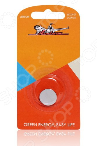 Батарейка для брелоков и сигнализаций литиевая Airline CR1220 элемент питания airline cr2032 01